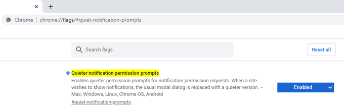 quiet notification prompts