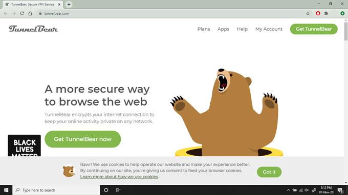 Tunnelbear chrome VPN