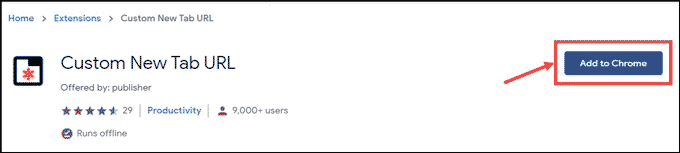 Custom New Tab URL extension