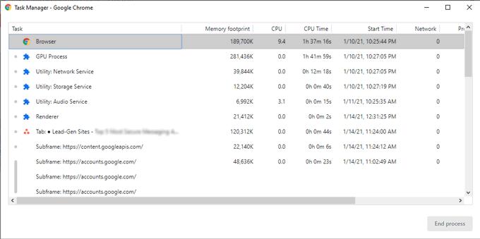 Chrome tsak manager