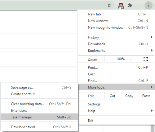 how to open Chrome task manager