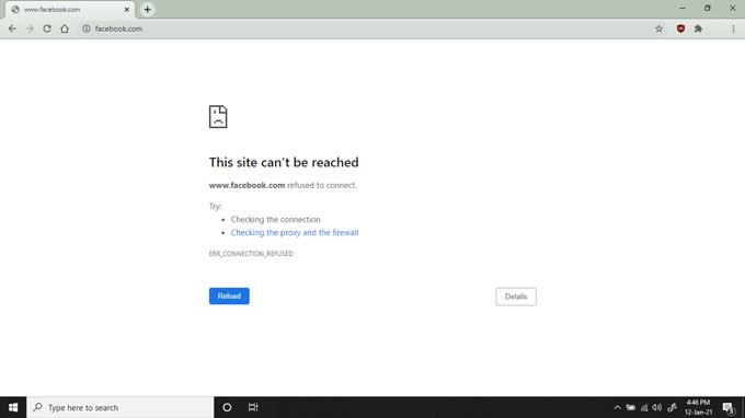 website blocked by hosts file