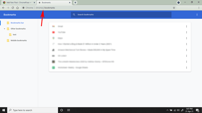 bookmarks manager in chrome