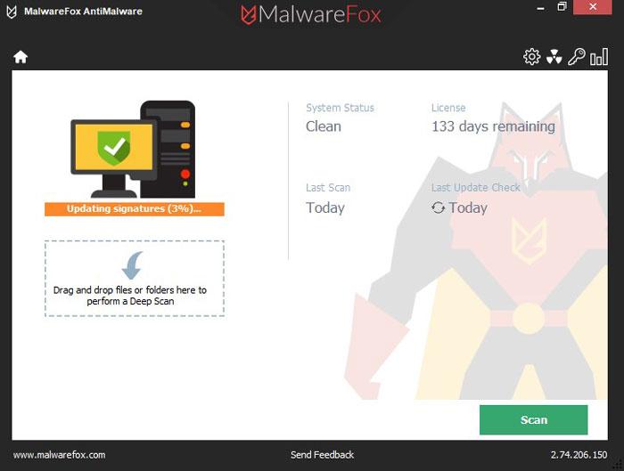 MalwareFox updating signatures